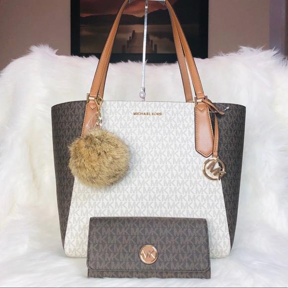 7e1f38cbeec4d8 Michael Kors Bags   3pcs Kimberly Lg Tote Wallet Charms   Poshmark